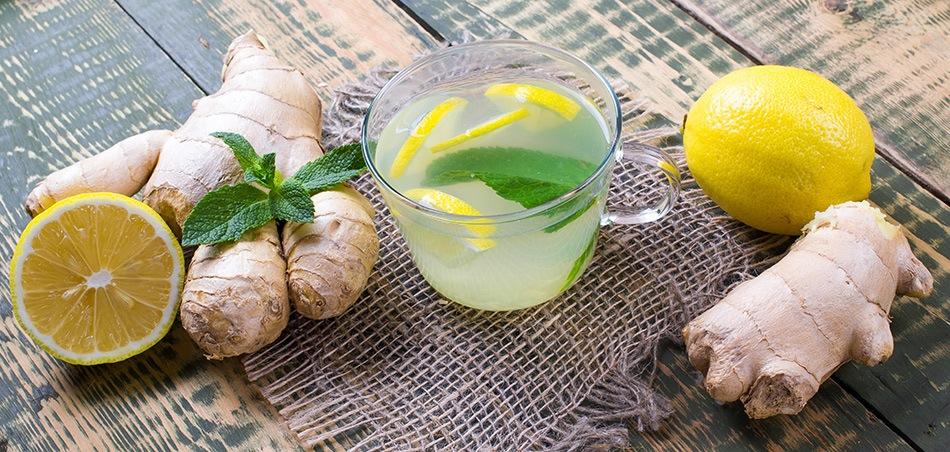 Bewährte Fastenhilfe - Ingwer und Zitrone